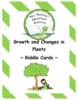 Plants Riddle Cards