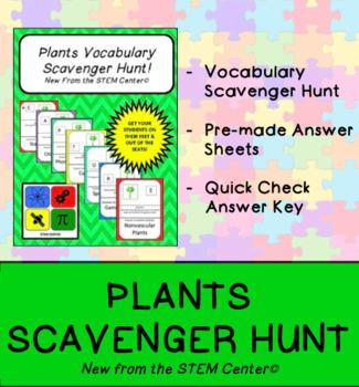 Plants Scavenger Hunt Game
