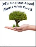 Plants Science Webquest for Google Apps - Internet Activity