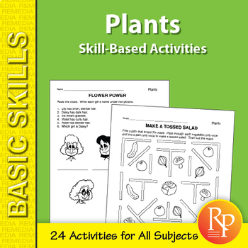 Plants: Skill-Based Activities for Grades 3-4