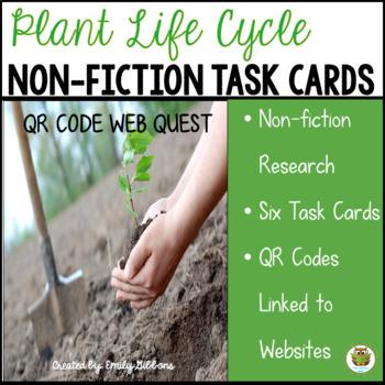 Plants Non-Fiction Task Cards and QR Code Web Quest