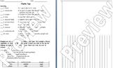 Plants Test / Writing Activity