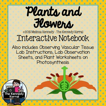 Plants and Flowers {Center, Interactive Notebook Supplement}