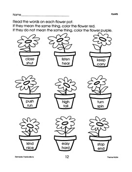 Plants: Thematic Skill-Based Activities for Grades 1-2