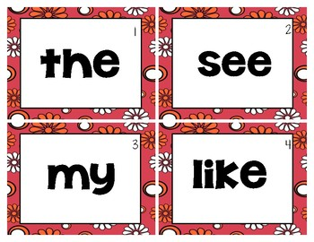 Plants Themed Sight Word Write the Room