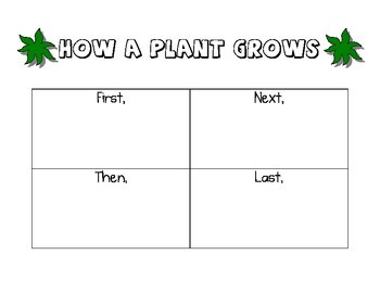 Plants Unit - Graphic Organizers - Set of 3