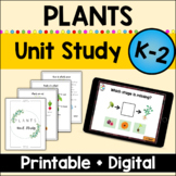 Plants Unit Study for Kindergarten and First Grade with ha