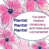 Plants!! Vocab activities and worksheets! Monarch and Swit