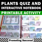 Parts of Plant Vocabulary Activities, Plants Interactive Notebook + Quiz