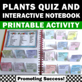 Parts of Plant Cut and Paste Plants Interactive Notebook