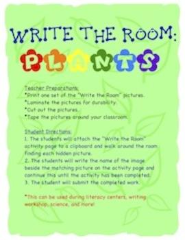 Plants - Write the Room Activity