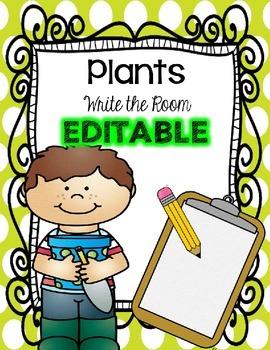 Plants - Write the Room {EDITABLE}