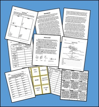 Plant and Animal Adaptions - Research Centers, Vocabulary, Matching Game ...