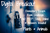 Plants and Animals: Elementary Digital Breakout (Online Es
