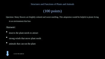 Plants and Animals Jeopardy Game