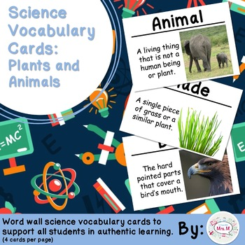 Plants and Animals Science Vocabulary Cards (FOSS Plants and Animals Module)