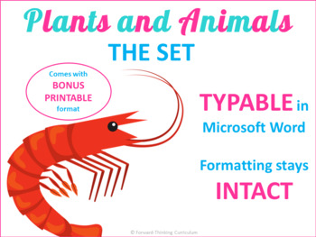 Keyboarding: Plants and Animals