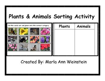 Plants and Animals Sorting Activity