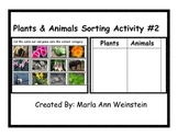 Plants and Animals Sorting Activity #2