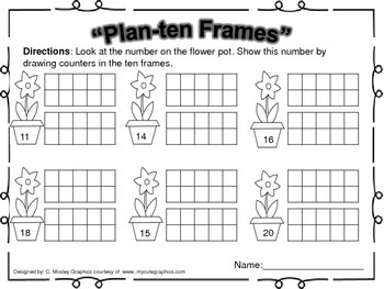 Plants and Flowers Themed Math Centers