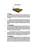 Plants and Food - Informational Text Test Prep