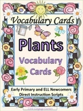 ESL Vocabulary and Conversation Plants and Garden Cards-ELL Newcomers Too!