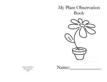 Plants and Observations Booklet