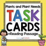 What Plants Need to Grow Task Cards | Plants Reading Passage | 2nd Grade NGSS