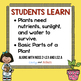 What Plants Need to Grow Task Cards   Plants Reading Passage   2nd Grade NGSS