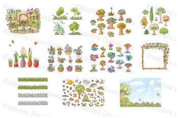 Plants and flowers bundle