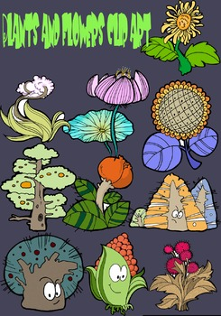 Plants and flowers clip art