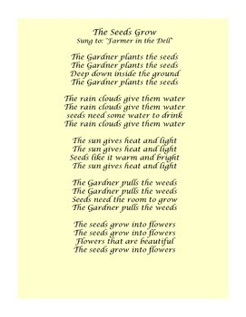 Plants and garden songs