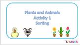Plants ans Animals Sort - Autism, Special Ed