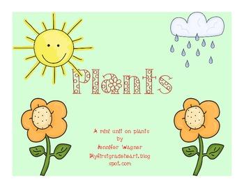 Plants mini Unit---a supplement to your unit on plants!