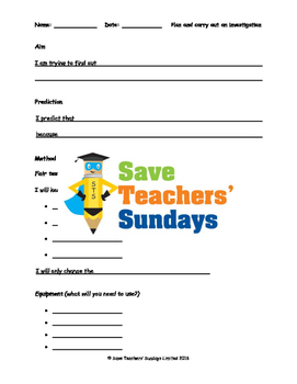 Plants science investigation Lesson plan, Writing frames and Graph frame