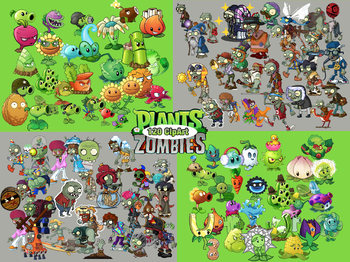 120 Plants vs Zombies ClipArt - Digital , PNG, 300PPI