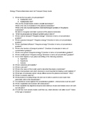 Plasma Membrane and Cell Transport Study Guide