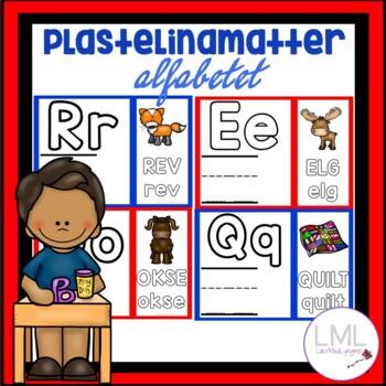 Plastelinamatter - alfabetinnlæring - alfabetet