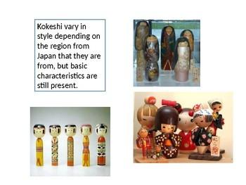 Plaster Japanese Kokeshi Dolls