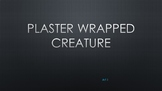 Plaster Wrapped Creature Sculpture
