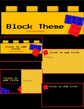 Plastic Block Theme for Powerpoint