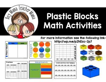 Plastic Blocks Math Activities