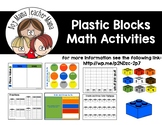 Plastic Blocks Math Activities