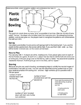 Plastic Bottle Bowling (Math Games)