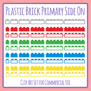 Plastic Bricks (Similar to Lego or Lego Like) Blank Template Graphic Organizer