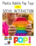 Plastic Bubble Pop It Toy Activities for Social Interactio