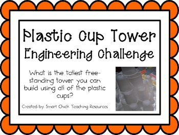 Plastic Cup Tower: Engineering Challenge Project ~ Great S