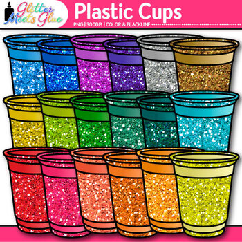 Plastic Cups Clip Art {Party and BBQ Graphics for Classroom Resources}