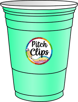 Plastic Cups Clip Art (Clip Art) - 12 Colors +BW! Commercial and SMART OK