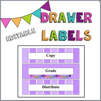 Plastic Drawers Organizational Labels- Editable